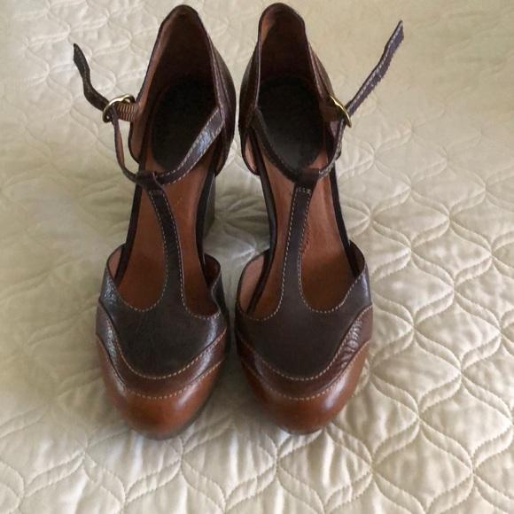 Vintage Lucky Brand T Strap Heels